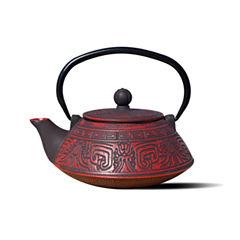 Old Dutch 26 Oz Red and Black Cast Iron Kodai Teapot