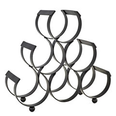 Old Dutch Matte Black 6 Bottle Iron Wine Rack