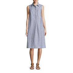 Liz Claiborne Sleeveless Shirt Dress
