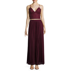 Speechless Sleeveless Evening Gown-Juniors