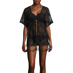 Arizona Solid Chiffon Swimsuit Cover-Up Dress-Juniors