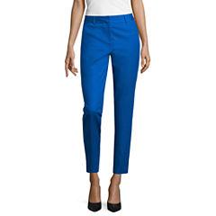 Liz Claiborne Double-Cotton Emma Fit Ankle Pants