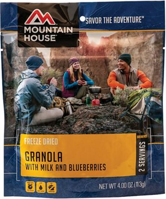 Mountain House Granola With Blueberries and Milk With Probiotics