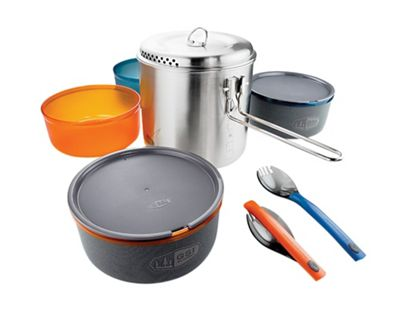 GSI Outdoors Glacier Stainless Dualist Cookset