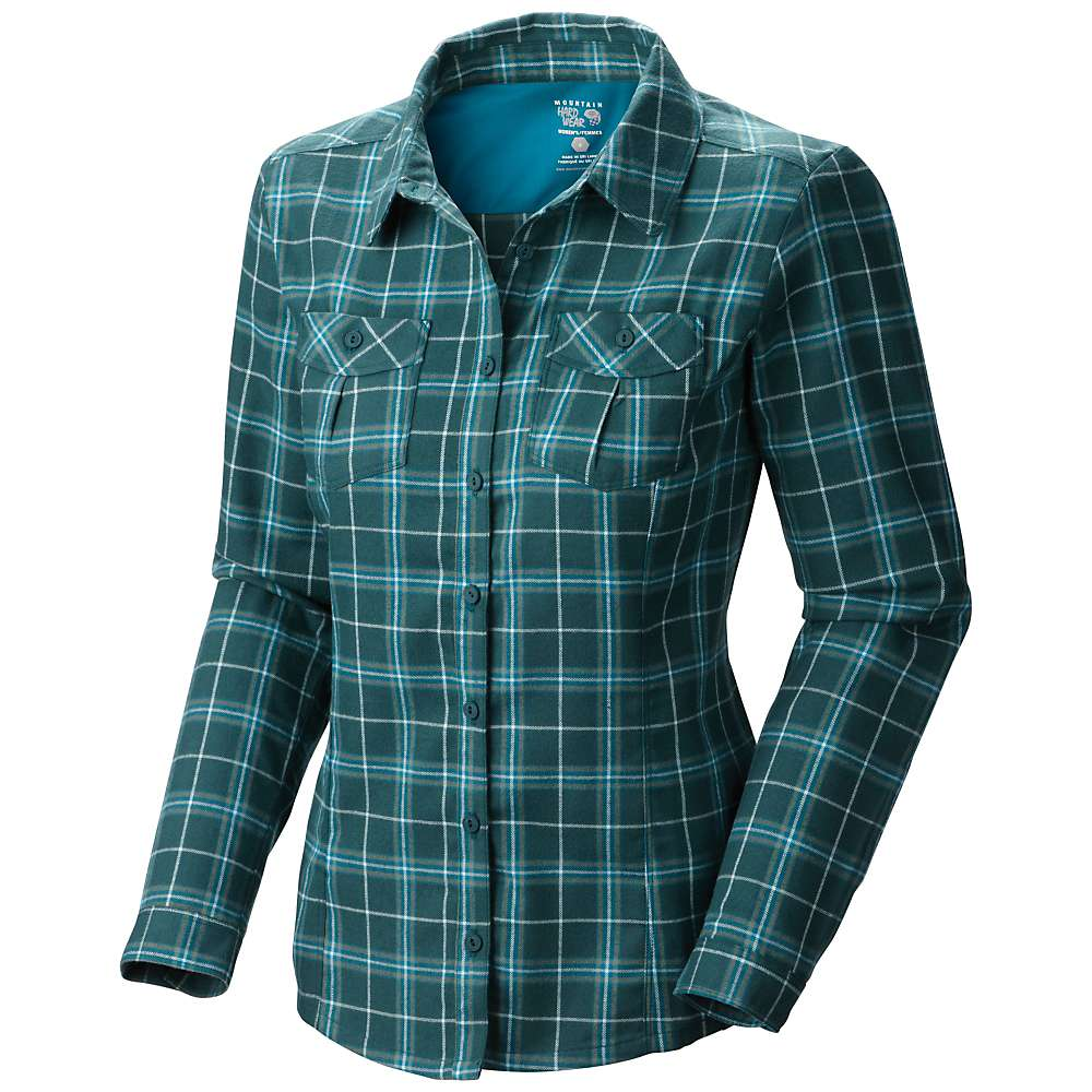 Mountain hardwear women 39 s trekkin flannel l s shirt at for Places to buy flannel shirts