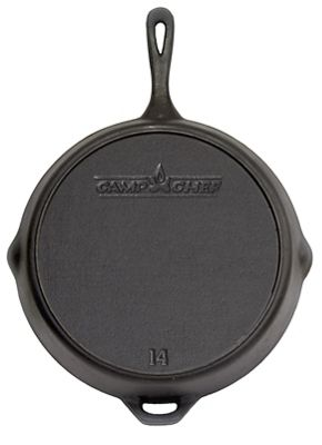 Camp Chef True Seasoned 14IN Cast Iron Skillet