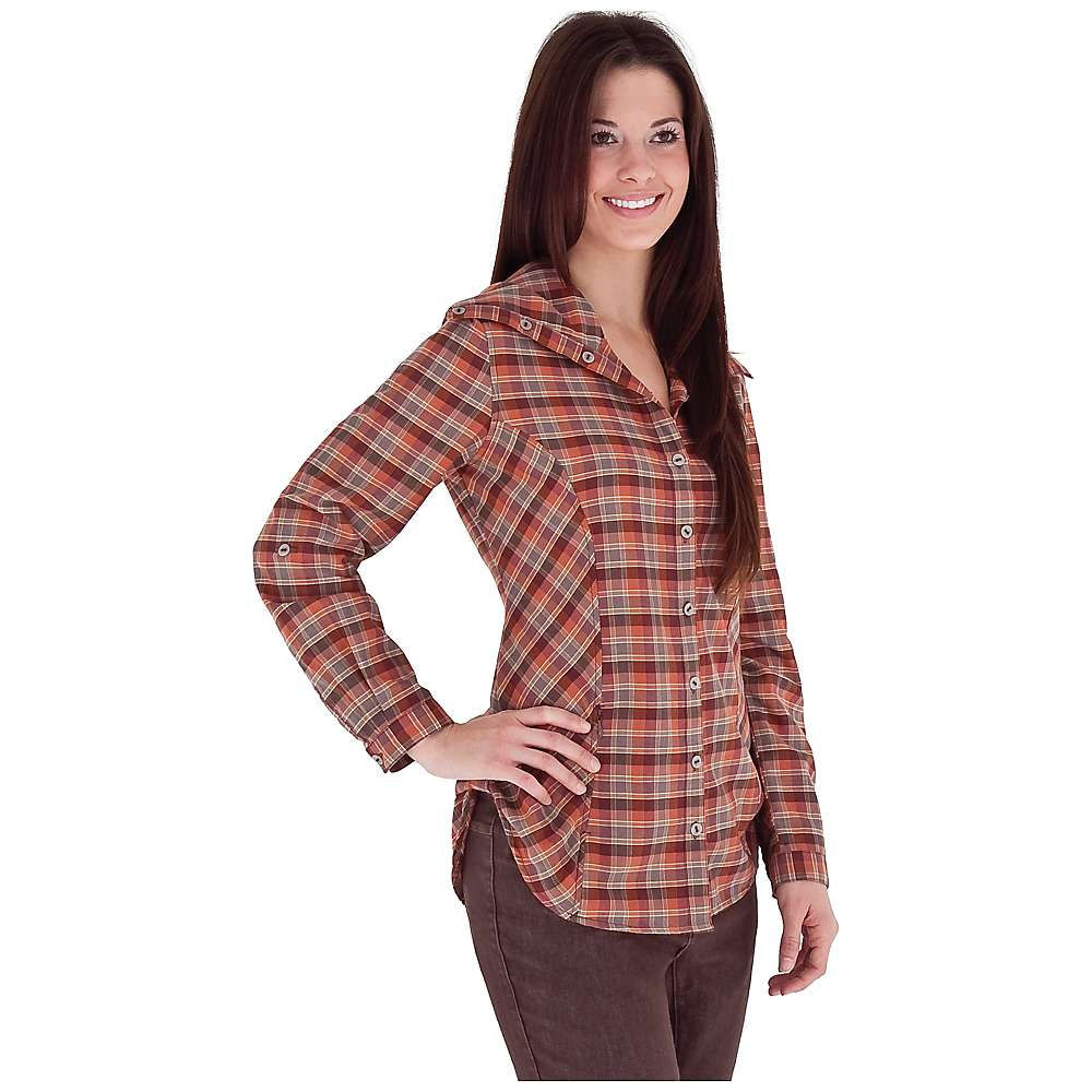 Show off classic plaid in a silky and light woven fabric with this women's plus tunic blouse from Simply Emma. This shirt features a collarless design and notched round neck. This shirt features a collarless design and notched round neck.