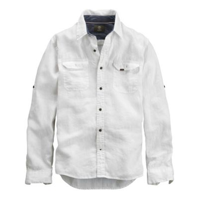 Timberland Men's Earthkeepers Long Sleeve Linen Cargo Shirt