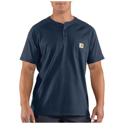 Carhartt Men's Force Cotton Delmont SS Henley Shirt