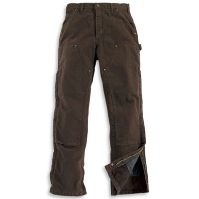 Carhartt Men's Sandstone Waist Overall Quilt Lined Pant