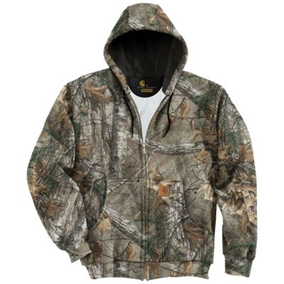 Carhartt Men's Midweight Camo Hooded Zip-Front Sweatshirt