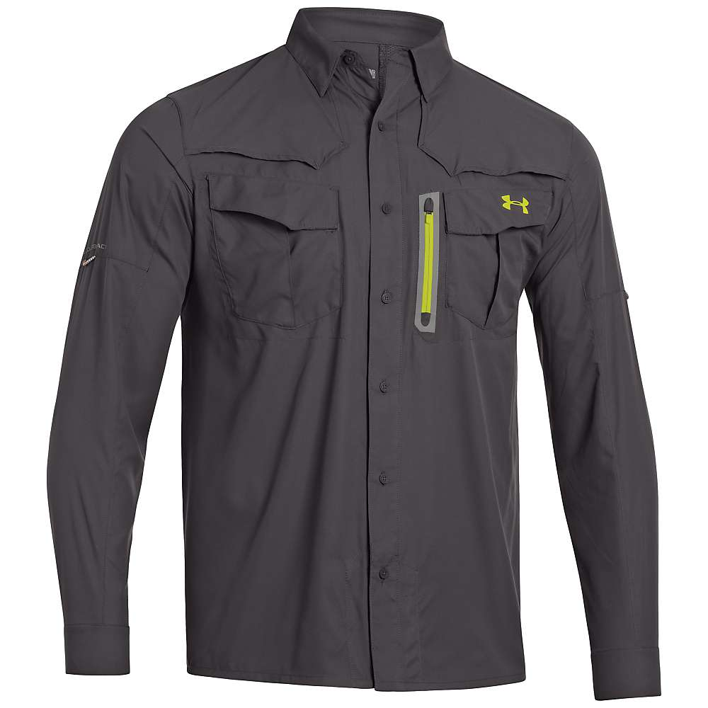 Under armour men 39 s coldblack abyss guide long sleeve shirt for Jawbone fishing shirts