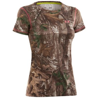 Under Armour Women's UA Scent Control EVO HG Camo SS Tee