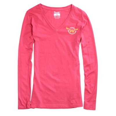 Moosejaw Women's Fearsome Critter Classic Slim V Neck LS Tee