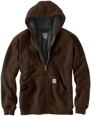 Carhartt Men's Rain Defender Rutland Thermal Lined Hooded Zip Front Sweatshirt