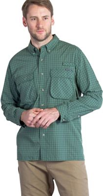 ExOfficio Men's Air Strip Micro Plaid Long Sleeve Shirt