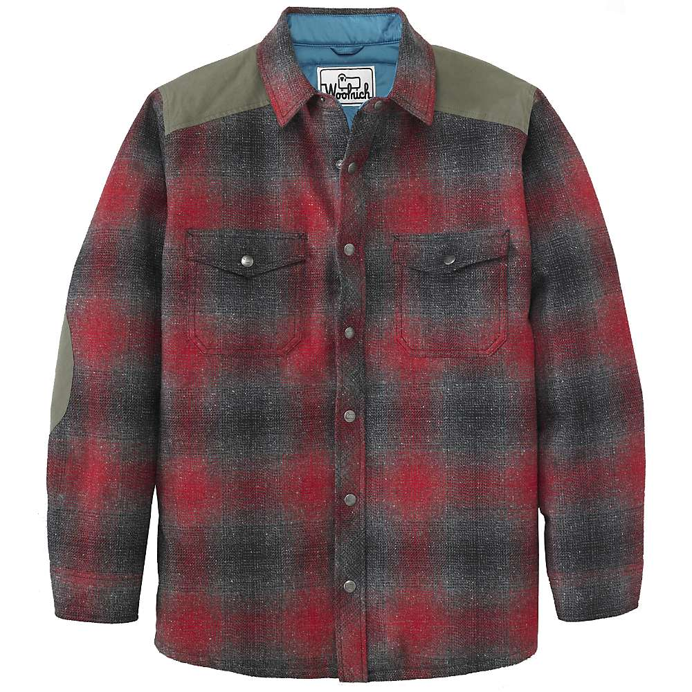 Woolrich Men 39 S The Mix Up Wool Quilted Shirt Jacket Moosejaw