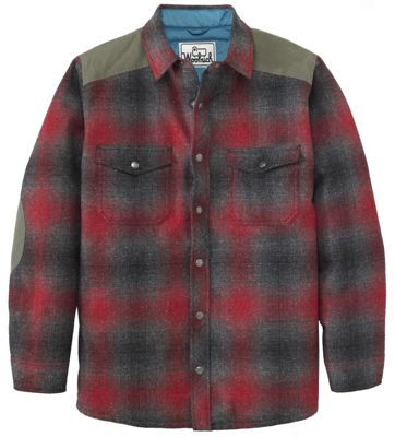 Woolrich Men's The Mix-Up Wool Quilted Shirt Jacket