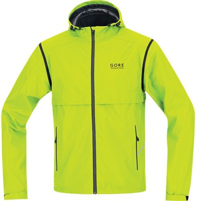 Gore Running Wear Men's Essential Active Shell Zip-Off Jacket
