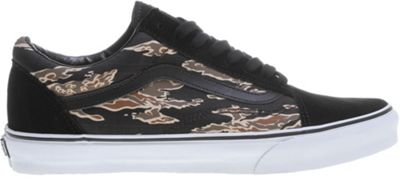 Vans Old Skool Skate Shoes (Suede) Tiger /Black - Men's