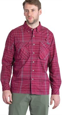 ExOfficio Men's Air Strip Macro Plaid L/S Shirt