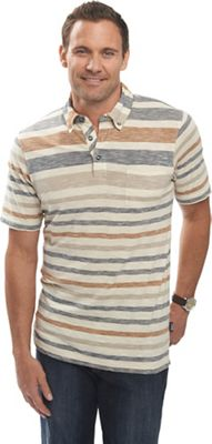 Woolrich Men's Between The Lines Stripe Polo Tee