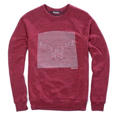 Moosejaw Men's Unknown Pleasures Tri-Blend Crew Sweatshirt