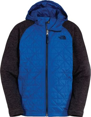 The North Face Boys' Quilted Sweater Fleece Hoodie