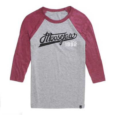 Moosejaw Men's White Lightning 3/4 Sleeve Baseball Tee