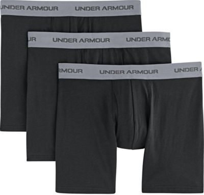 Under Armour Men's Charged Cotton Stretch 6 Inch Boxerjock 3 Pack