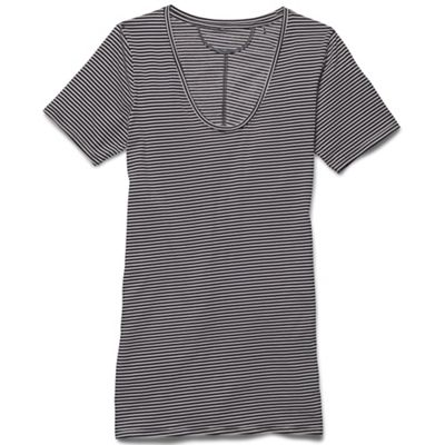 Under Armour Women's Long and Lean Novelty SS V Neck