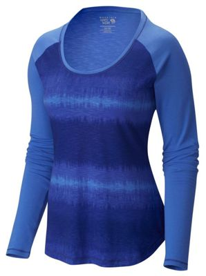 Mountain Hardwear Women's DrySpun Printed Crewneck LS Shirt