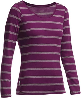Icebreaker Women's Crush LS Scoop Stripe