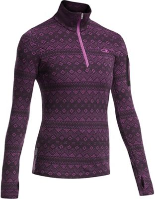 Icebreaker Women's Vertex LS Half Zip Icon Fairisle