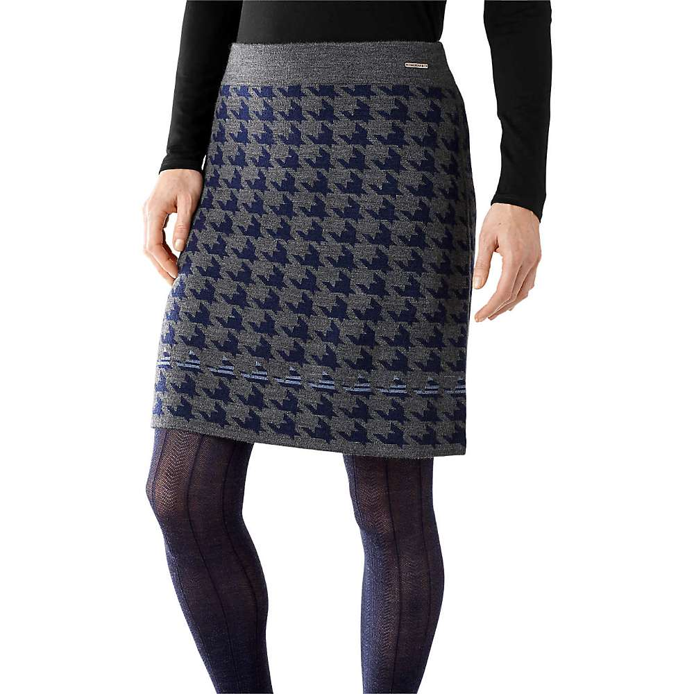 smartwool s knit houndstooth skirt at moosejaw