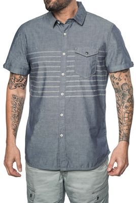 Jeremiah Men's Gil Discharge Print Chambray SS Shirt