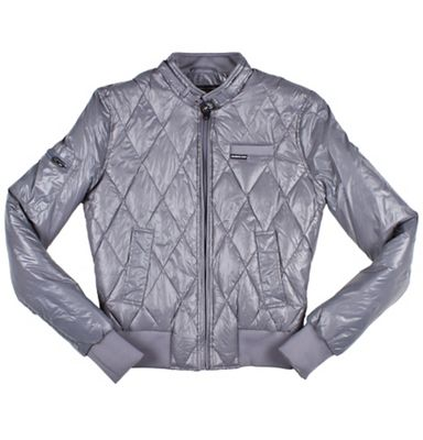 Members Only Women's Faux Down Bomber Jacket