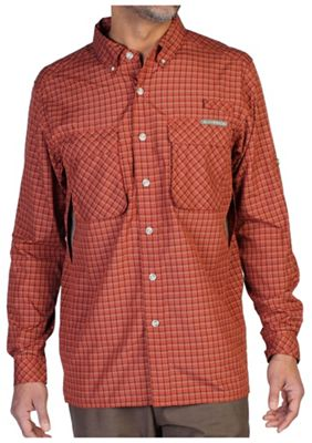 ExOfficio Men's Air Strip Micro Plaid LS Shirt
