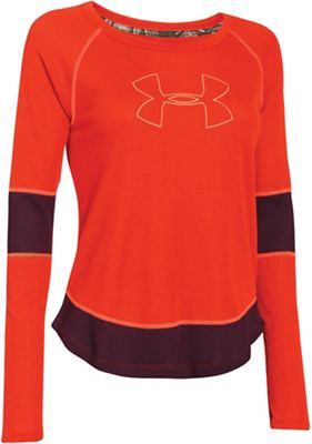 Under Armour Women's Borderland Waffle Logo Crew