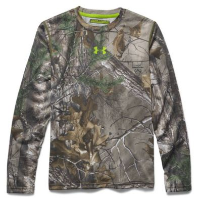 Under Armour Youth Scent Control Tech LS Top