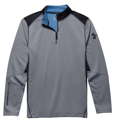 Under Armour Men's ColdGear Infrared Grid 1/4 Zip Mock Neck Top