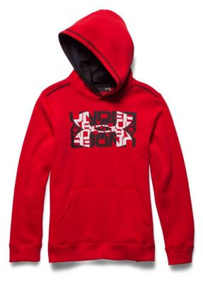 Under Armour Boys' Rival Cotton Logo X2 Hoody
