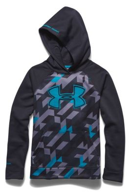 Under Armour Boys' Storm Armour Fleece Printed Big Logo Hoody