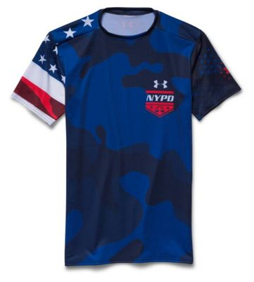 Under Armour Men's 9/11 NYPD Compression SS Top