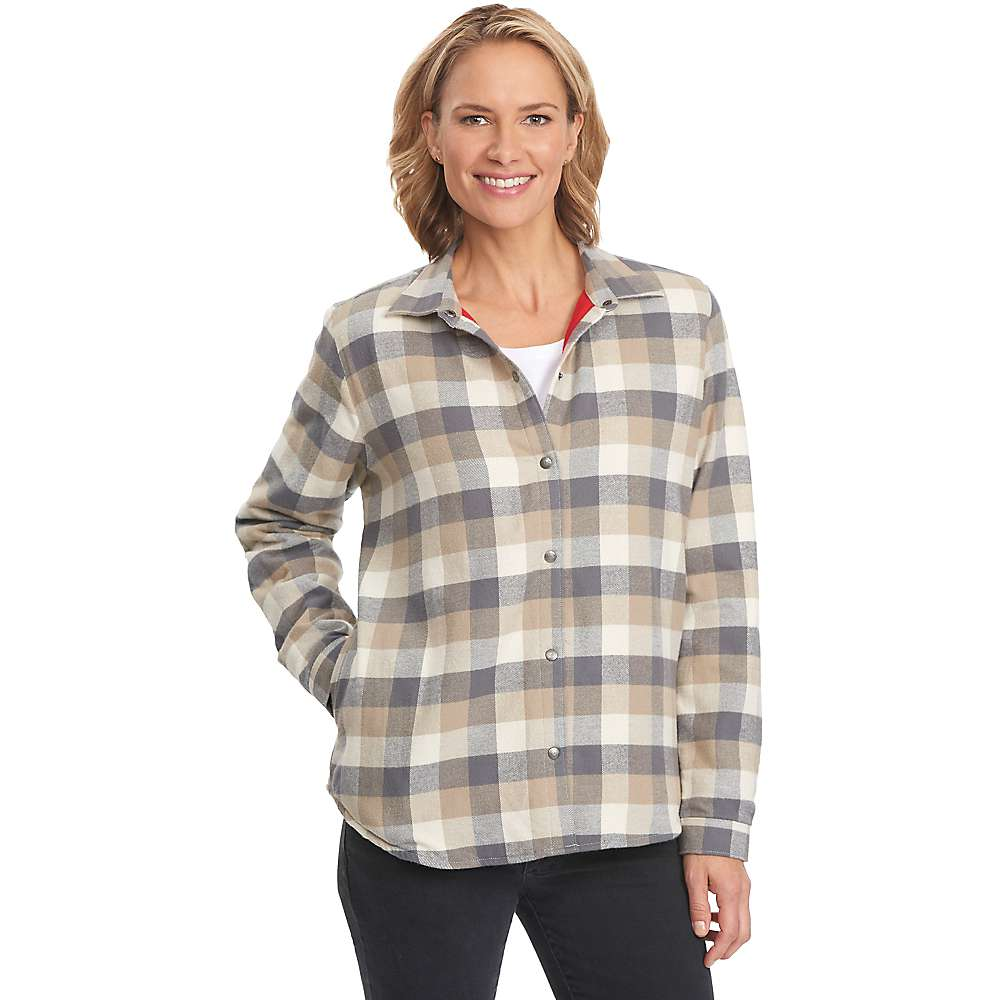 woolrich women 39 s pemberton fleece lined flannel shirt jac