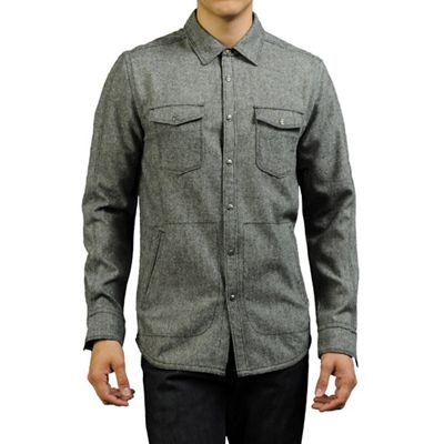 Jeremiah Men's Gray Wool Canvas Shirt Jacket