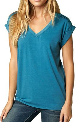Fox Women's Constant V Neck Roll Sleeve Top
