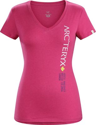 Arcteryx Women's Vertical Word SS V Neck Top