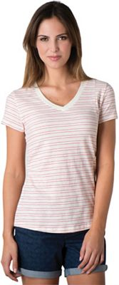 Toad & Co Women's Slubstripe SS Vee Tee