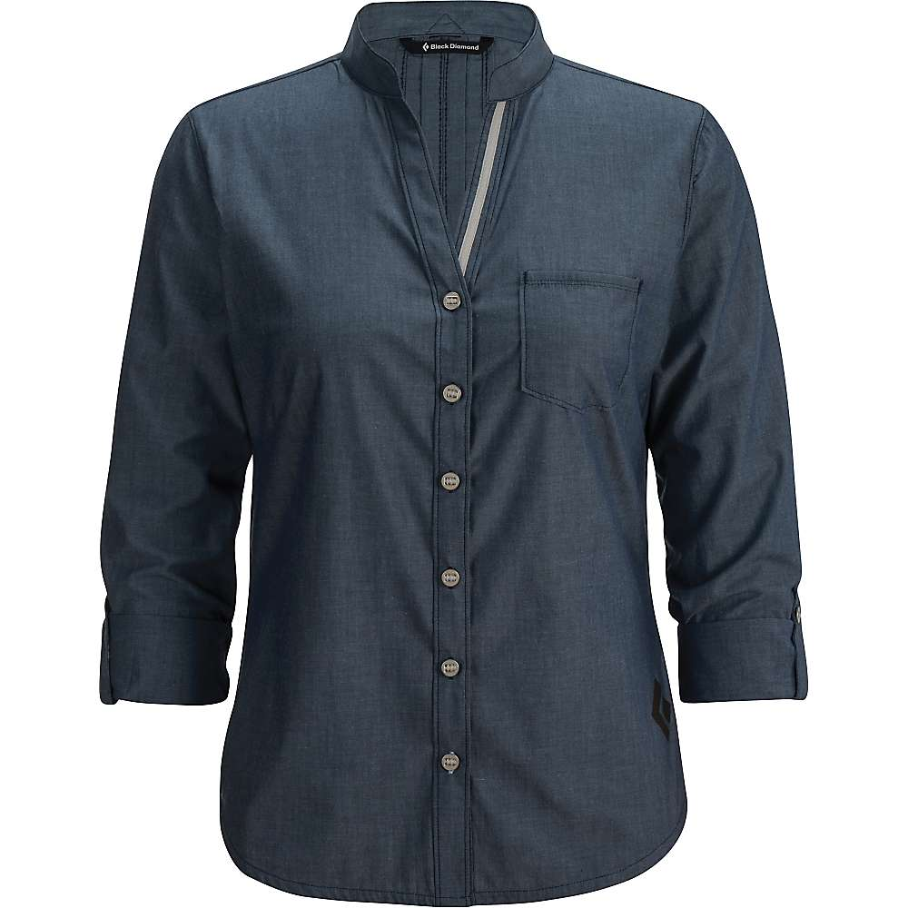 Black diamond women 39 s chambray modernist shirt moosejaw for Chambray shirt women